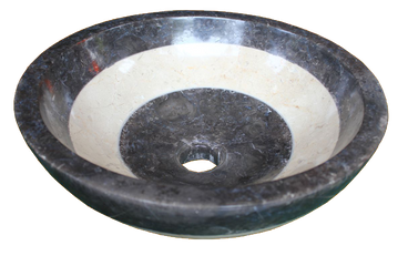 Black Mix White Marble Washbasin