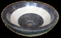 Black Mix White Marble Washbasin