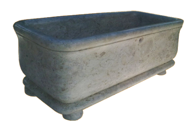 Square Bathtub with Legs