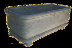 Square Bathtub with Legs