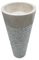Washbasin Round Tower with Pebbles
