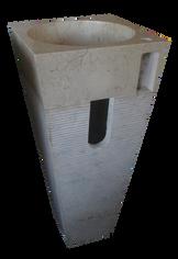 Washbasin Tirus Striped Pedestal + Tap