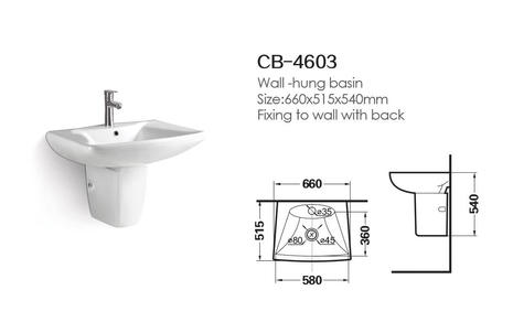 Hebe Wall Hung Basin