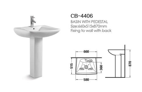 Hebe Basin With Pedestal