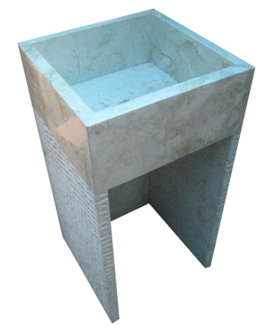 Washbasin Square Pedestal with Stripes