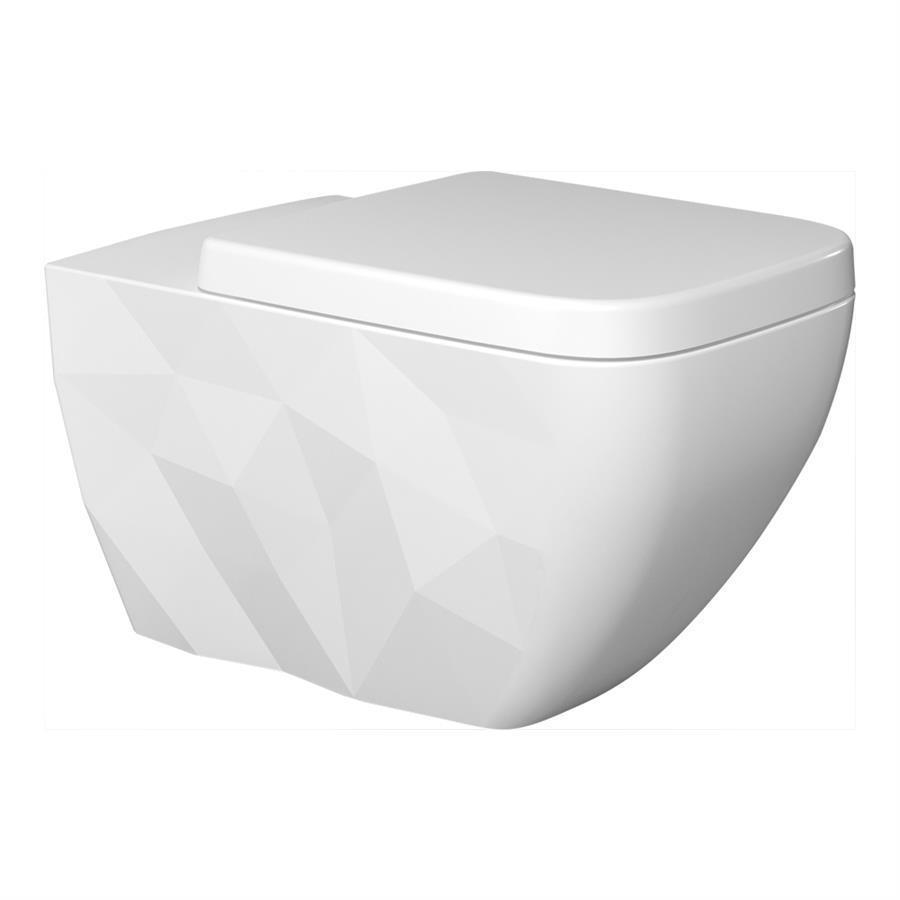 Krystal No Rim Wall Hung WC
