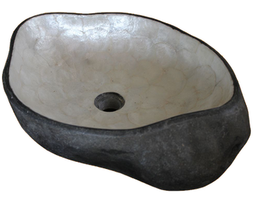 Washbasin River Stone with Capiz