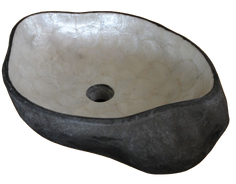 Washbasin River Stone with Capiz