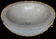 Washbasin Round Hammered & List