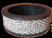 Washbasin Round with Pebbles