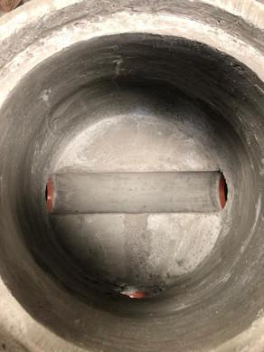 Inside of a manhole
