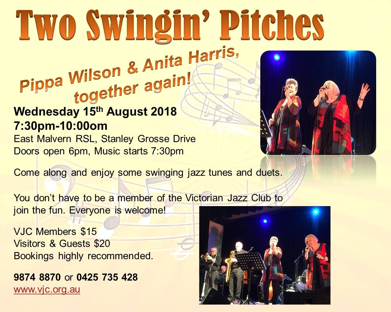 2018 Two Swingin' Pitches in August