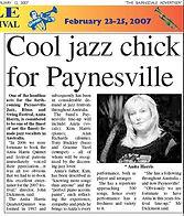 2007 Bairnsdale Advertiser | Anita Harris Jazz