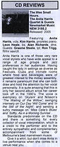 Jazz Scene CD Review 2006 | Anita Harris Jazz