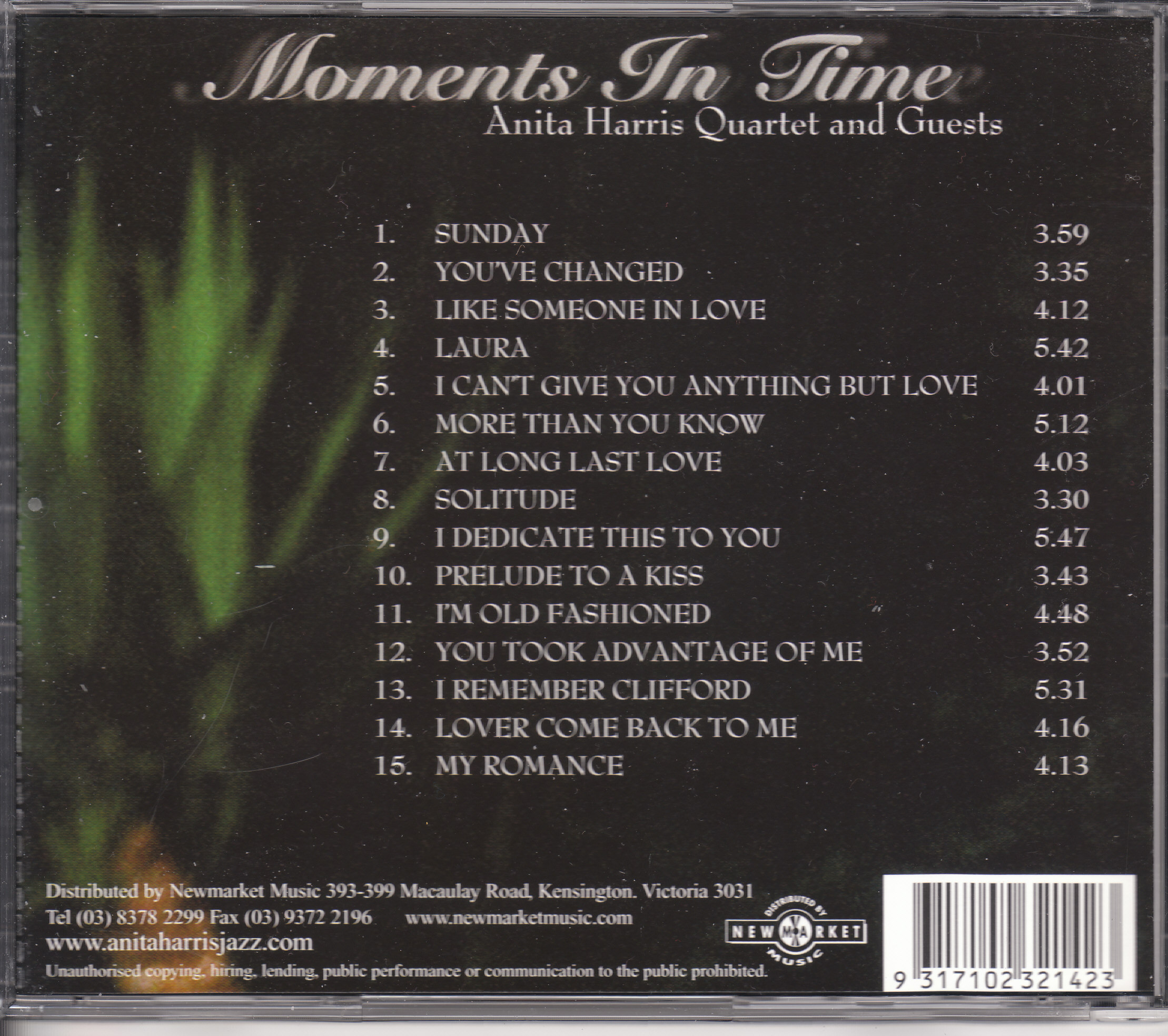 Moments In Time - Back