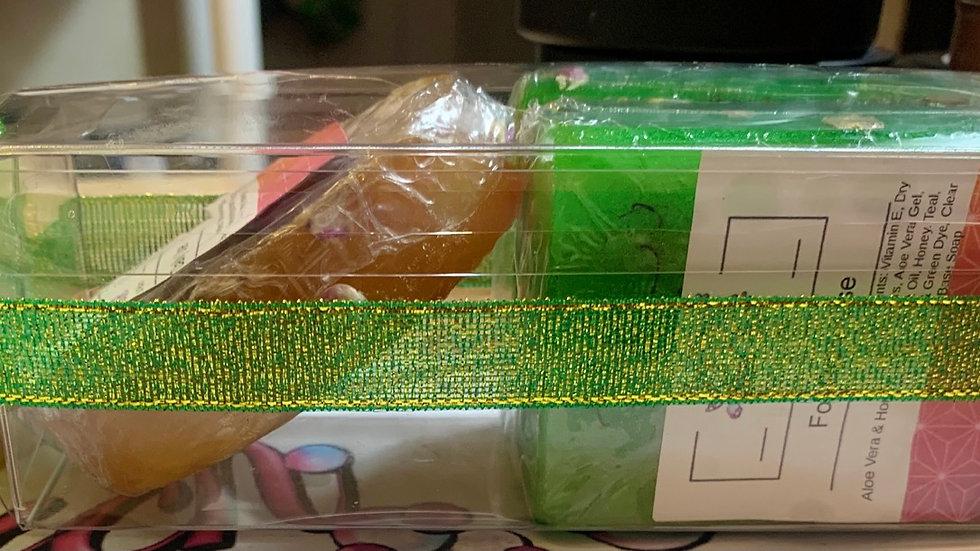 3 Pack Aloe Vera & Honey Natural Soap Bars(Unscented)