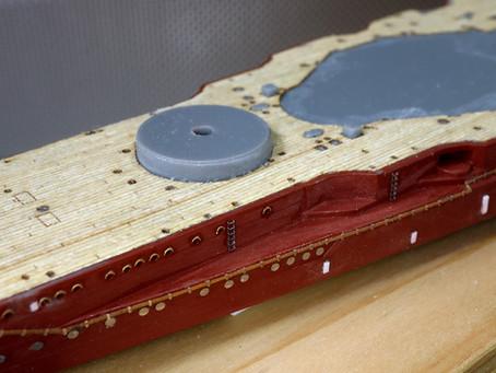 木製甲板シートを薄くしてみました