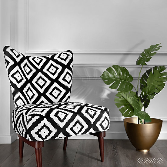 Geo-Patterned Armless Chair