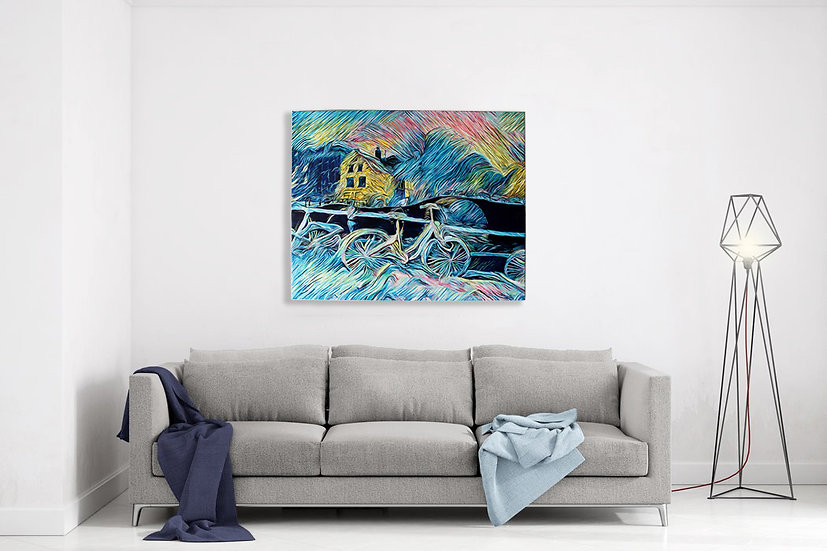 FOLLOW MY RIVER 50x60cm