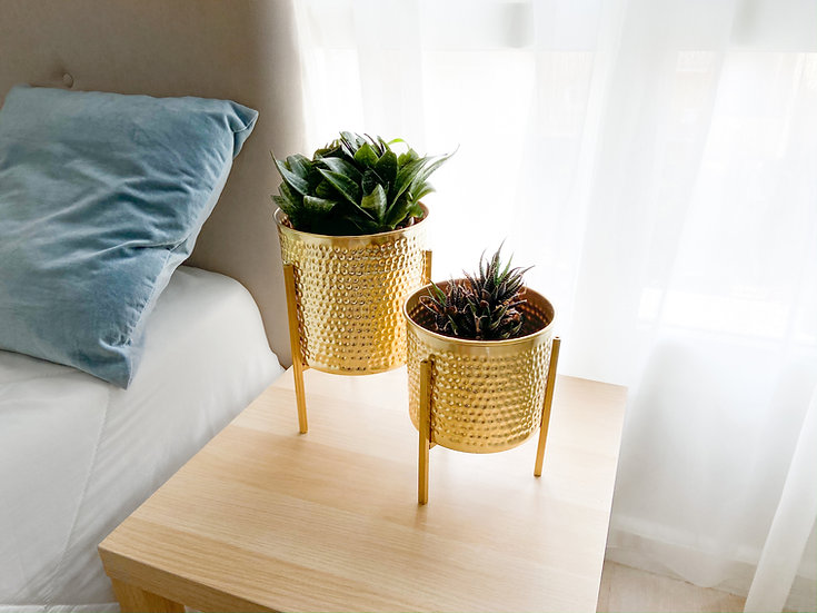 Hammered Tabletop Planters