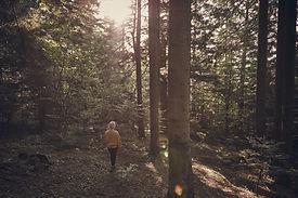 Fille dans les bois