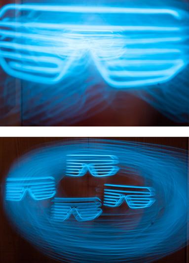 Sunglasses - Light painting by Samantha Voros