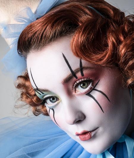 Clown makeup photograph by Samantha Voros Photography Vancouver BC