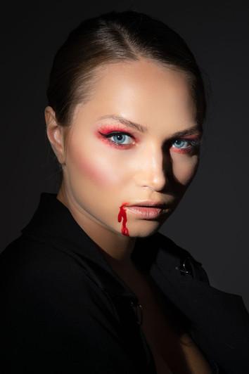 VampireHalloween makeup photograph