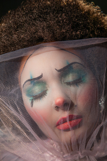 Sad clown photography