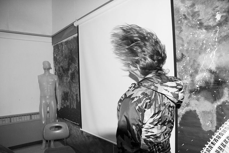 wind blowing hair image