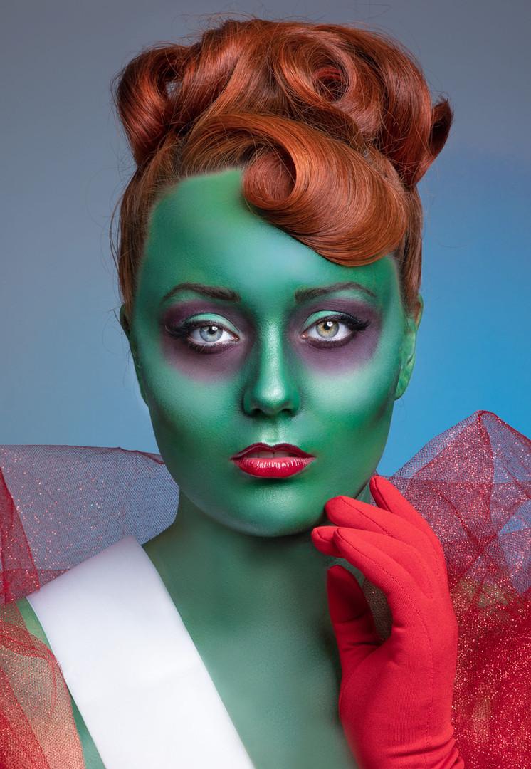 Miss Argentina Halloween makeup photograph