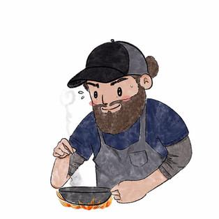 The Taco Guru cartoon