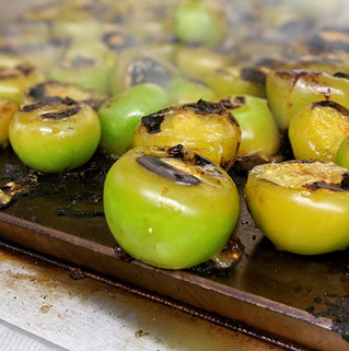 Rosting The tomatillos