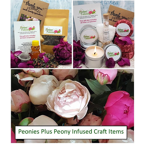 Peonies Plus our Peony Infused Gift Items