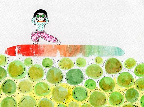 梅酢サーファーポストカード