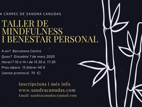 Nuevo curso de Mindfulness y bienestar personal en Barcelona