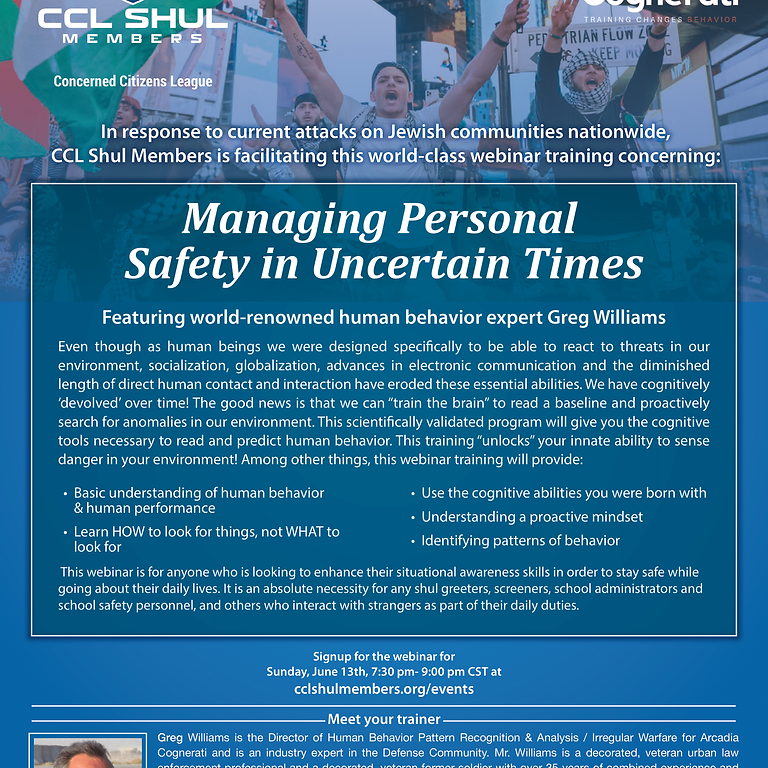 Managing Personal Safety in Uncertain Times