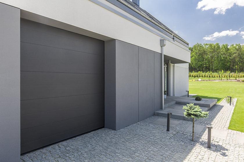 Porte de garage grise