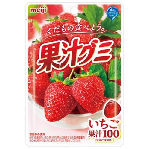 Meiji Strawberry Juice Fruit Gummies 51g