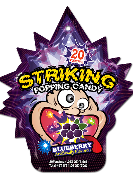 Striking Popping Candy Blueberry (20 pcs)