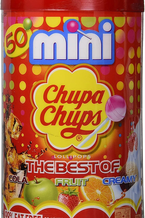 Chupa Chups  Mini Lollipops The Best Of Cola, Fruit and Cream (50 pcs)