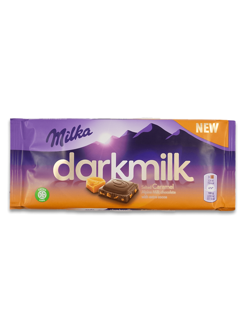 Milka Dark Milk Salted Caramel with Alpine Milk with Extra Cocoa