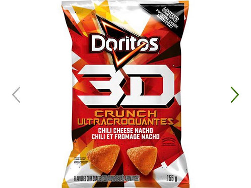 Doritos 3D Crunch Chili Cheese Nacho Flavoured Corn Snacks