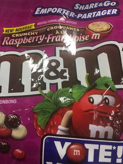 M&Ms crunchy rasberry