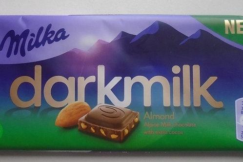 Milka Dark Milk Almond w Alpine Milk w Extra Cocoa