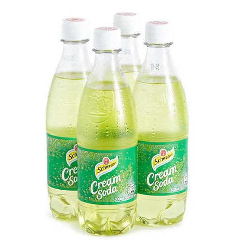 Schweppes Cream Soda 500ml bottle