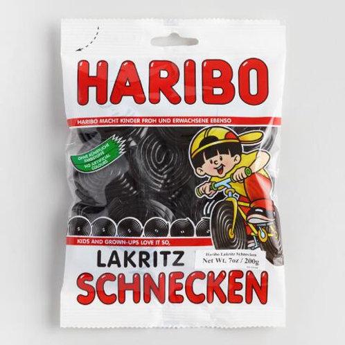 Haribo Lakritz Schnecken (Black Licorice)