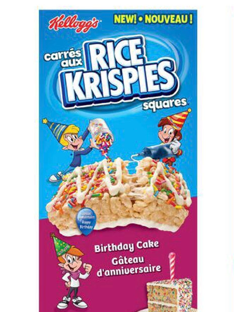 Rice Krispy Squares Birthday Cake