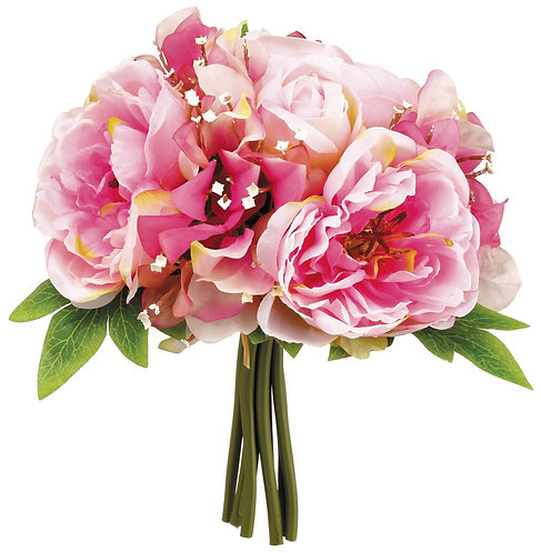 """10"""" Peony/Sweet Pea Bouquet Two Tone Pink"""