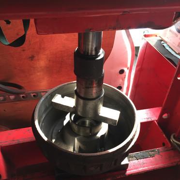 Caravan wheel bearing repair